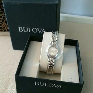 NIB Bulova SS/goldtone watch 98T84